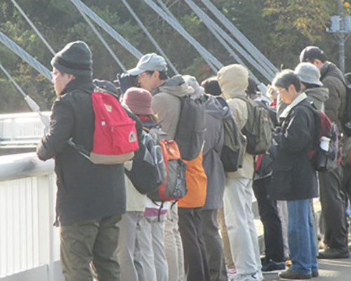 相模三川公園で河川環境に生息する野鳥の観察