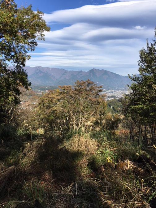 山頂からの表丹沢の山々の眺望